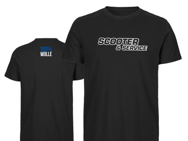 T-Shirt Scooter & Service 100%WOLLE